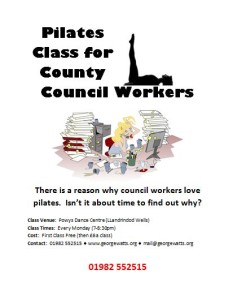 County Council Pilates Class Flyer