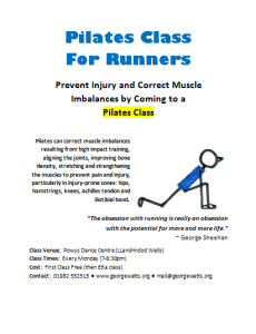 Runners Pilates Class Flyer