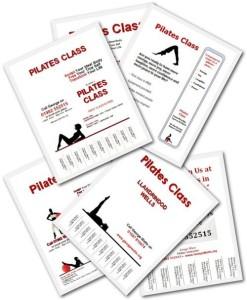 A4 Pilates Flyer Templates