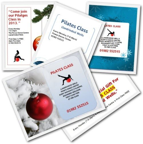 Pilates Christmas Flyer Templates