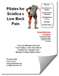 Sciatica Pilates Class Flyer