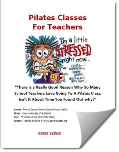 Stressed Teachers Pilates Class Flyer